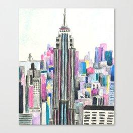NYC Watercolor Canvas Print