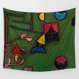 "Paul Klee ""Pflanze und Fenster Stilleben (Still life with Plant and Window)"" Wall Tapestry"