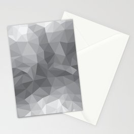 Gray Polygon Background Stationery Cards