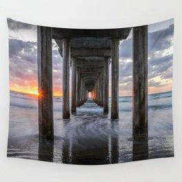 SCRIPPS PIER OCEAN SUNSET LA JOLLA CALIFORNIA Wall Tapestry