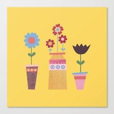 Beautiful Plant Pots Canvas Print