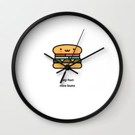 JUST A PUNNY BURGER JOKE! Wall Clock