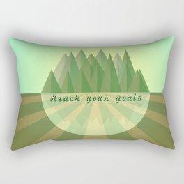 Reach clearly your goals  Rectangular Pillow