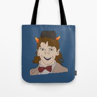 fandom Tote Bags featuring Fandom Monster by Dansparce