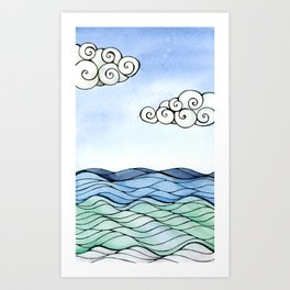 Waves - 002 Art Print