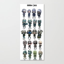 "Rainbow Six: Siege ""SKINS"" Canvas Print"