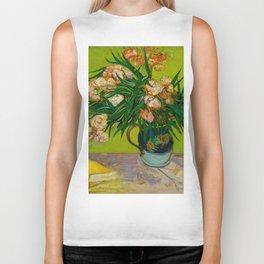 Oleanders Vincent van Gogh Oil On Canvas Floral Still Life Painting Biker Tank
