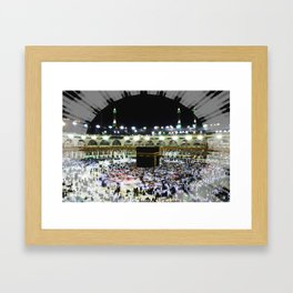 Hajj - Kaaba Stone - Muslim - the ancient sacred stone building towards which Muslims pray Framed Art Print