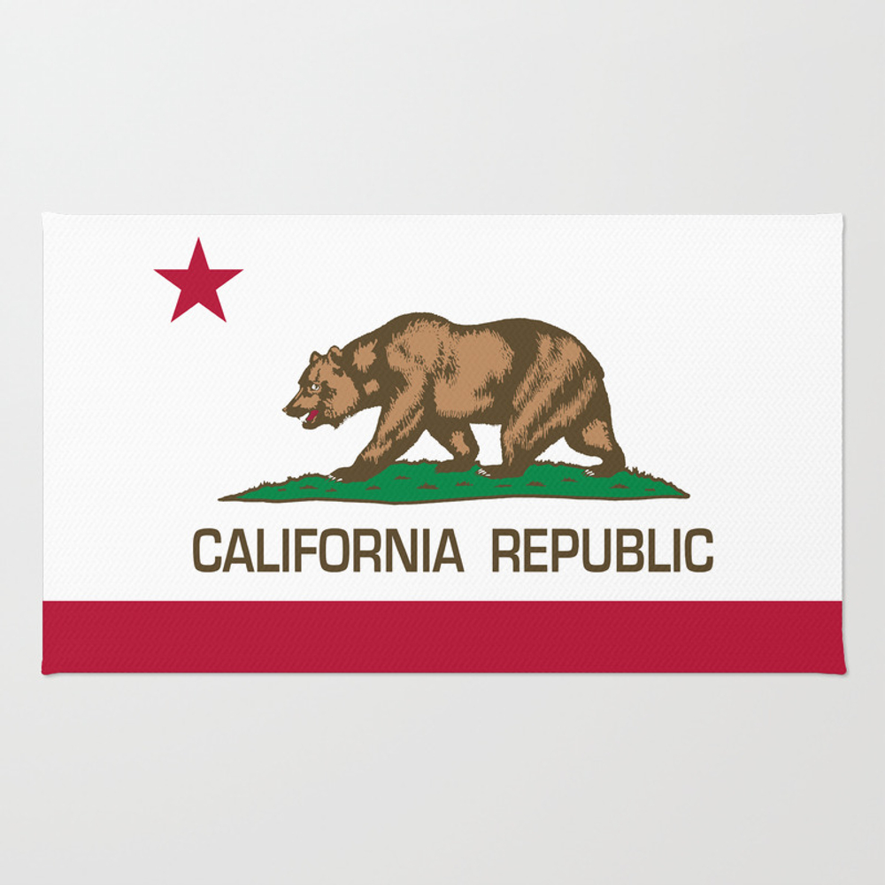 California Republic Flag - Bear Flag Rug by Bauhaus RUG1416502