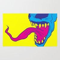 venom Area & Throw Rugs featuring Venom. by Hussein Ibrahim