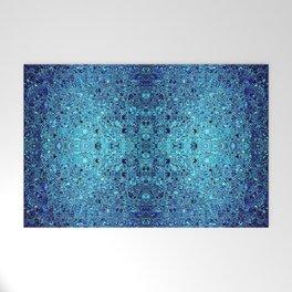 Deep blue glass mosaic Welcome Mat