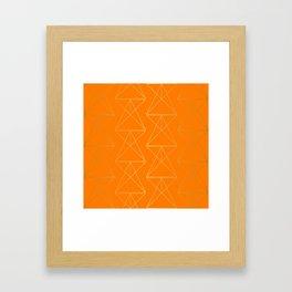 Orange Geometric Triangles Framed Art Print