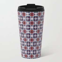 Bright blue and red crystals Travel Mug