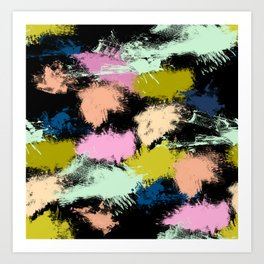 Dabs of paint Art Print
