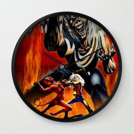 iron maiden album 2021 dede26 Wall Clock