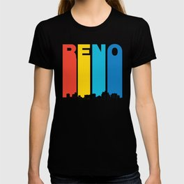 Retro 1970's Style Reno Nevada Skyline T-shirt