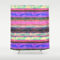 dc Shower Curtains featuring  Serape Stripe {DC} by Schatzi Brown