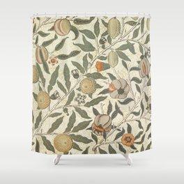 William Morris Fruit Pattern Shower Curtain