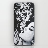 smoking iPhone & iPod Skins featuring Smoking by Fallon Chase