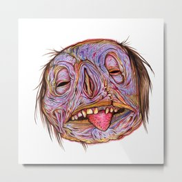 Rotten Head - Putrid Purple Metal Print