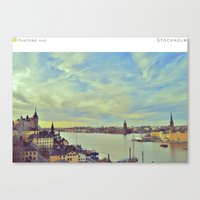 stockholm Canvas Prints featuring Stockholm by In Full Color