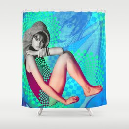 Supermodel Shrimpton 1 - Supermodels of the Sixties Series Shower Curtain