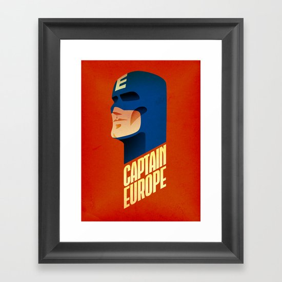 Captain Europe Framed Art Print