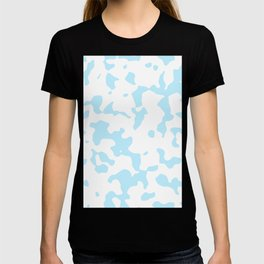 Large Spots - White and Light Blue T-shirt