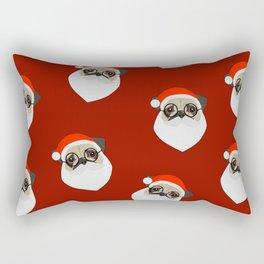 Santa Pugs Rectangular Pillow