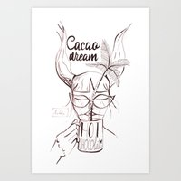 Art Print featuring cacao dreamer by Soloka