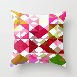 Crape Myrtle Abstract Triangles 1 Throw Pillow