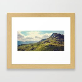 Langdale Pikes Framed Art Print