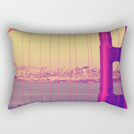 Golden Gate Into San Francisco Rectangular Pillow
