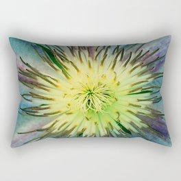 Aqua-Blue Flower With Lilac Accents Rectangular Pillow