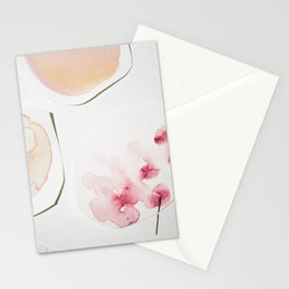 Minimalist Watercolor Collage Detail II Stationery Cards