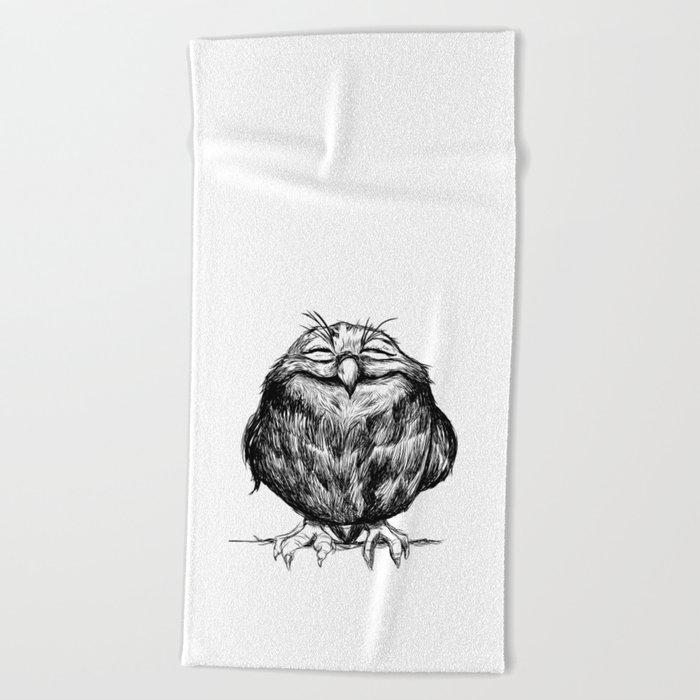 Owl Ball Beach Towel