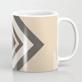 Brown Tan Cream Geometric Shape Diamond 2021 Color of the Year Urbane Bronze and Accent Shades Coffee Mug