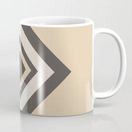 Brown Tan Cream Geometric Shape Diamond 2021 Color of the Year Urbane Bronze and Accent Shades Coffee Mug