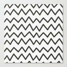 Modern Wave Line Pattern Art Canvas Print
