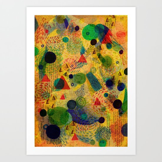 Color Dimension Art Print