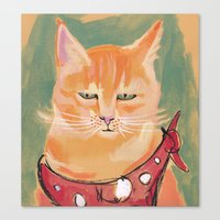 ginger Canvas Prints featuring Ginger by Katie O'Hagan