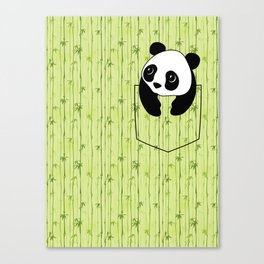Pocket Bamboo Panda Canvas Print