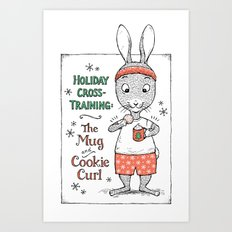 Holiday Curls Art Print