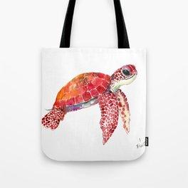 Turtle Children Animal design Red, pink Orange cute turtle Tote Bag
