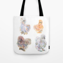 Silkie Chickens Tote Bag