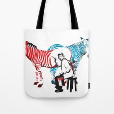 Zebra Painter print Tote Bag