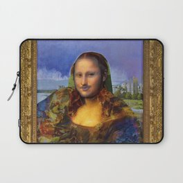 Mona (Kevin) Lisa : Satire + Contemporary Fine Art Laptop Sleeve