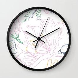 Floral Sketch Wall Clock