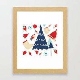 Christmas tree blue Framed Art Print