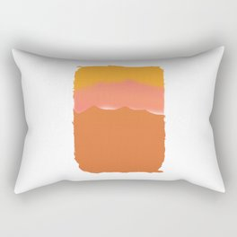 Orange Mountain Sunset for Hikers and Backpackers Rectangular Pillow